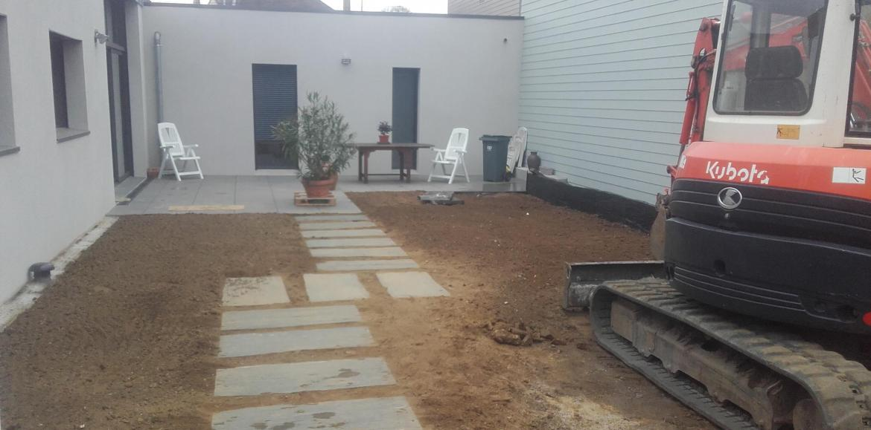 Aménagement d'un cour intérieur